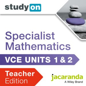 StudyOn VCE Specialist Mathematics Units 1 and 2 Teacher Edition (Online Purchase)