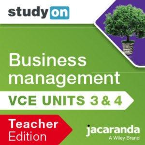 StudyOn VCE Business Management Units 3 and 4 3E Teacher Edition (Online Purchase)