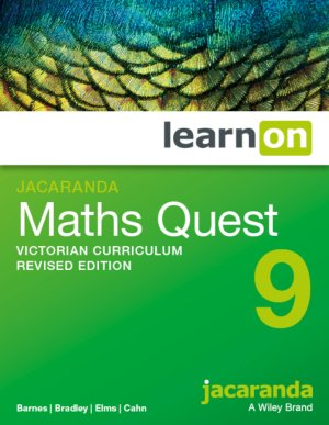 Jacaranda Maths Quest 9 Victorian Curriculum      Revised Edition LearnON (Online Purchase)