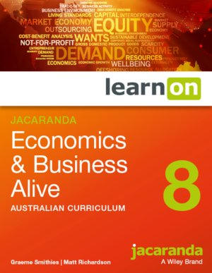 Jacaranda Economics and Business Alive 8 Australian Curriculum LearnON (Online Purchase)