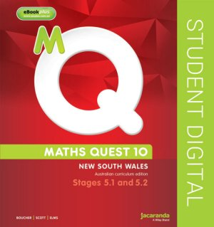 Maths Quest 10 for NSW 5.1/5.2 Pathway Australian Curriculum Edition eBookPLUS (Online Purchase)